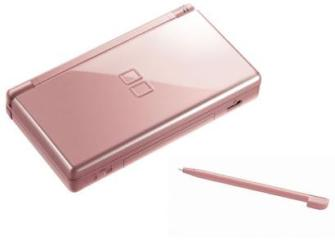 Nintendo DS metallic rose