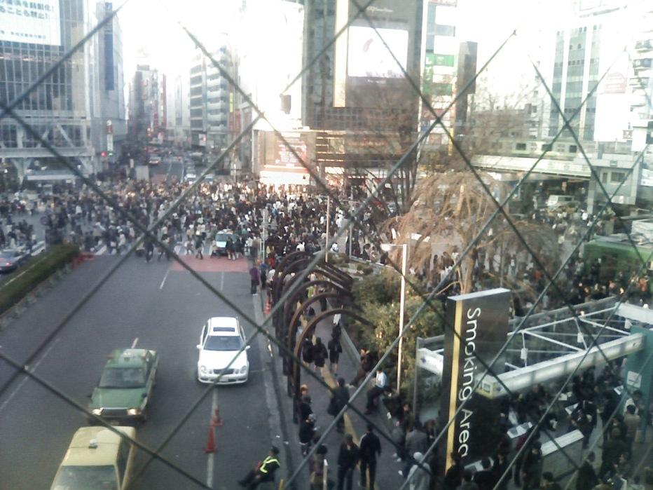Smocking area next Hachiko(Shibuya)