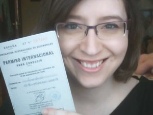 Con mi international driving license, nen !!