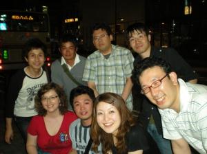 With friends in Machida