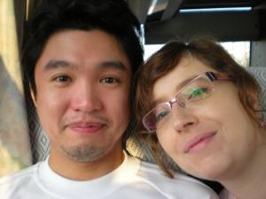 Con Hideo en el autobús