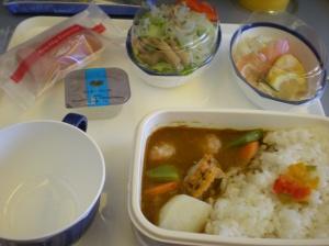 Almuerzo del avión de JAL
