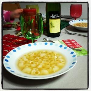 Sopa de galets de Nadal