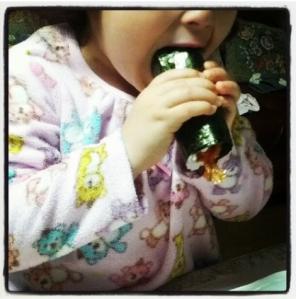 Yuna comiendo ehoumaki