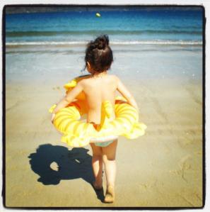 Al mar, muy decidida